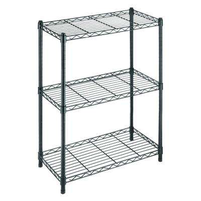 Black 3-Tier Freestanding Wire Shelving Unit