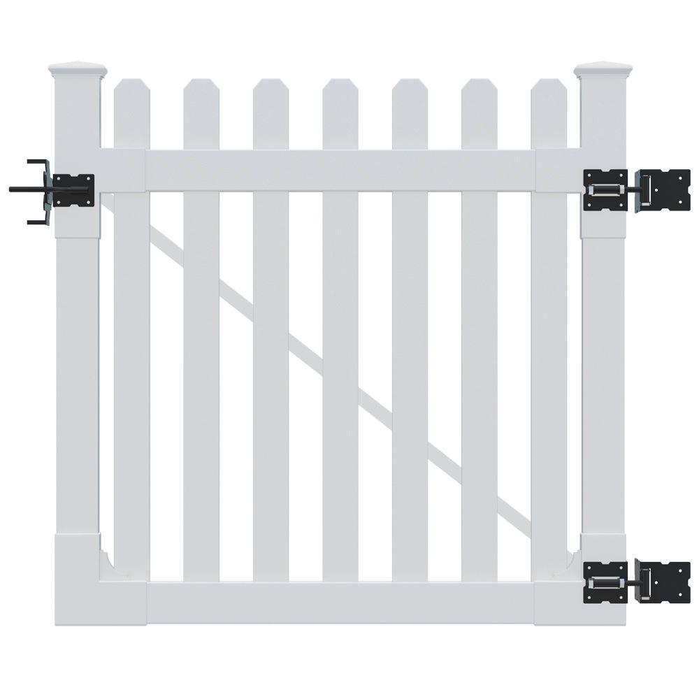 Wambam Fence 4 Ft X Premium Vinyl Clic Picket Gate With