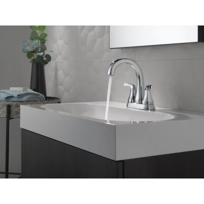 Portwood 4 in. Centerset 2-Handle Bathroom Faucet in Chrome
