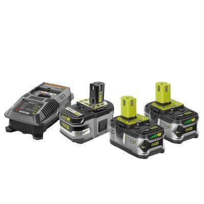 18-Volt ONE+ Lithium-Ion Lithium+ HP 6.0 Ah Starter Kit with ONE+ Lithium-Ion LITHIUM+ HP 6.0 Ah High Capacity Battery