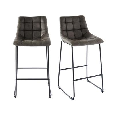 Richmond 29 in. Gray Bar Stool (Set of 2)