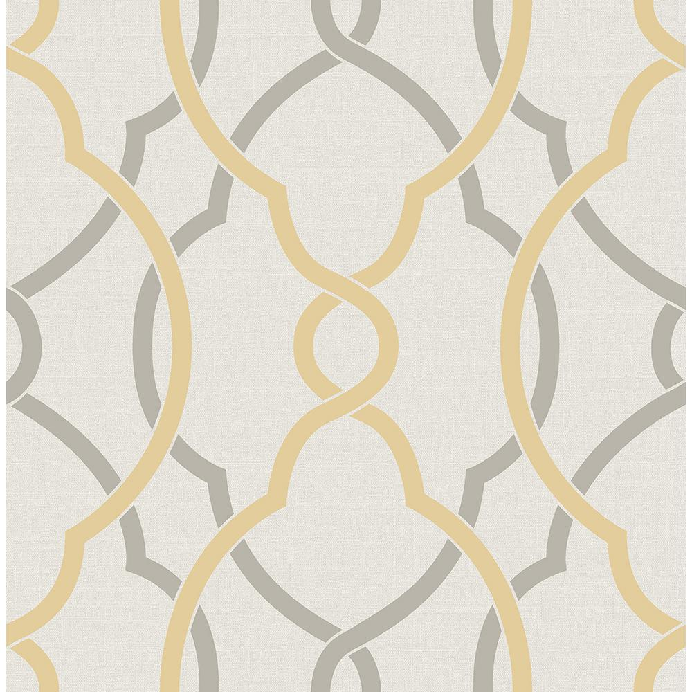 A Street Sausalito Yellow Lattice Wallpaper Sample 2697 22620sam