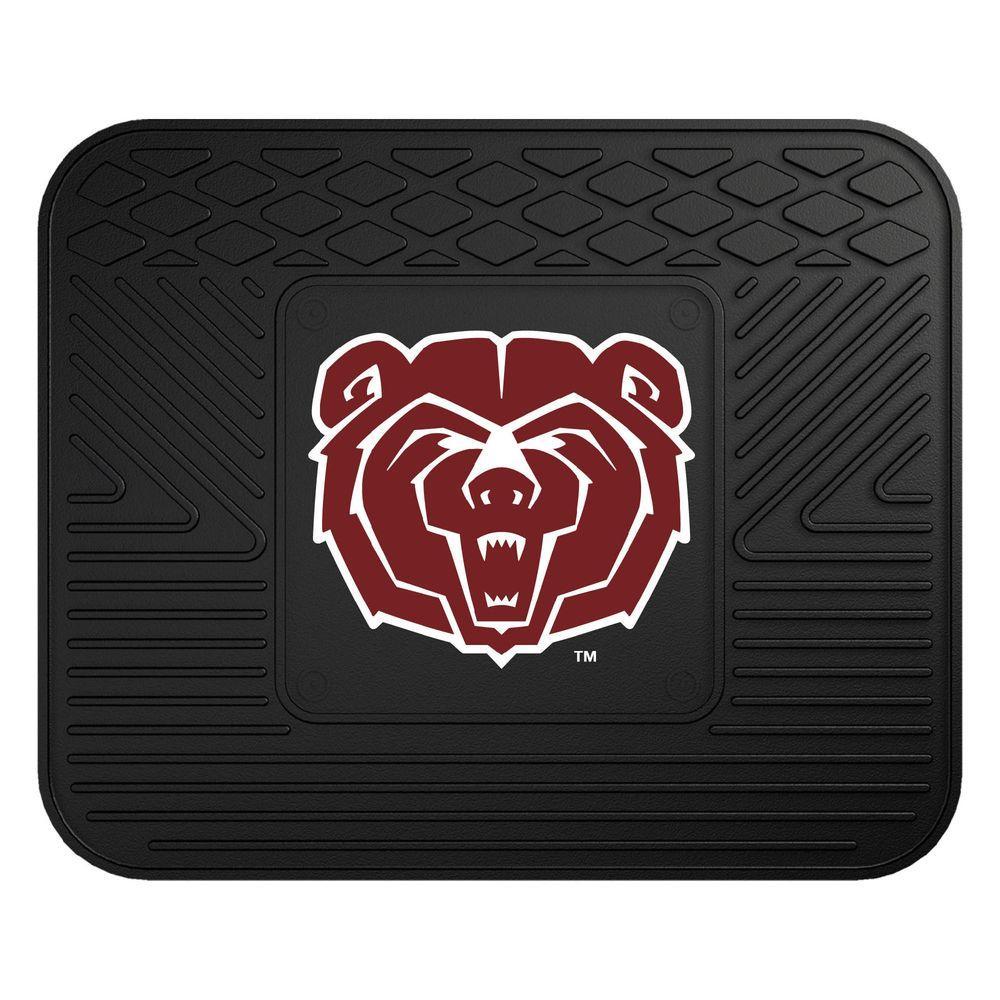 NCAA Missouri State Black Heavy Duty 1-Piece 14 in. x 17 in. Vinyl Utility Mat