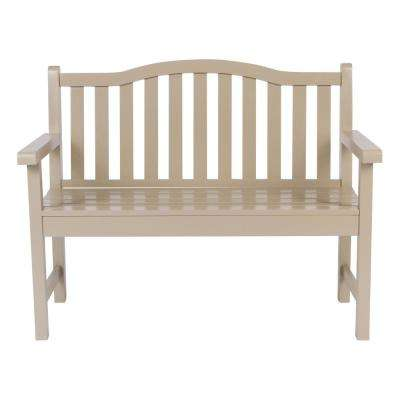 Belfort Cedar Wood Outdoor Garden Bench 43.25 in. - Taupe Gray
