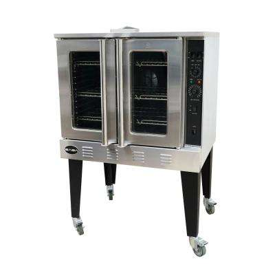 38 in. Commercial Gas Convection Oven Single Free Standing in Stainless Steel