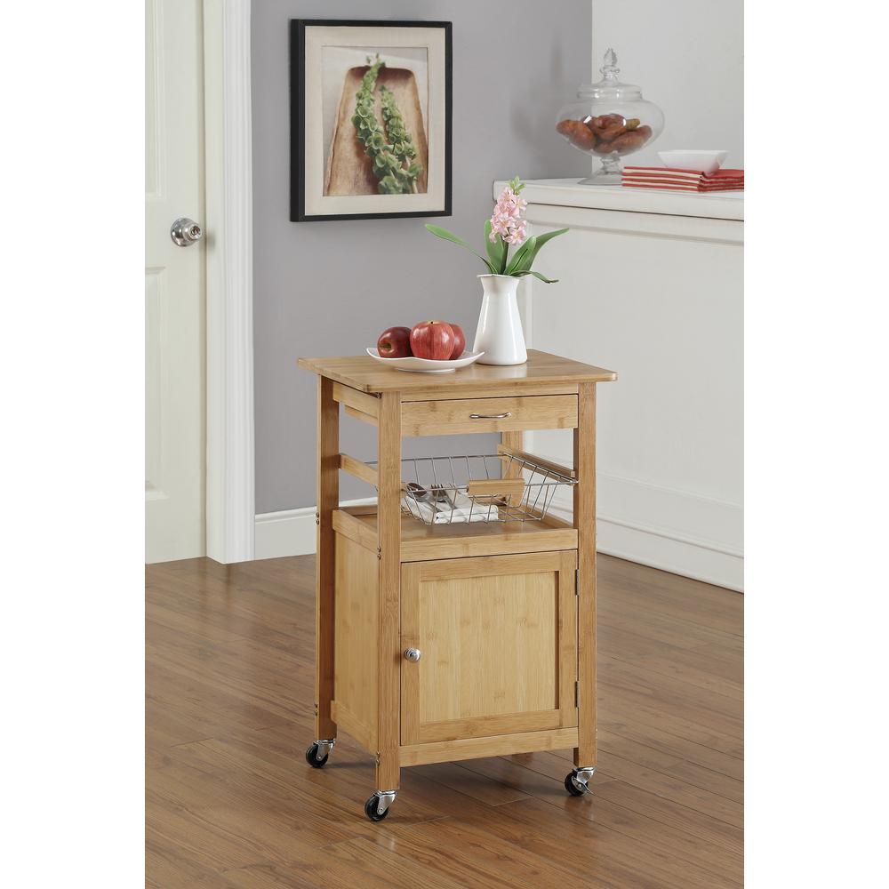 Exceptional Neu Home Bamboo Kitchen Cart