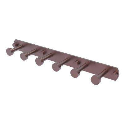 Fresno Collection 6-Position Tie and Belt Rack in Antique Copper