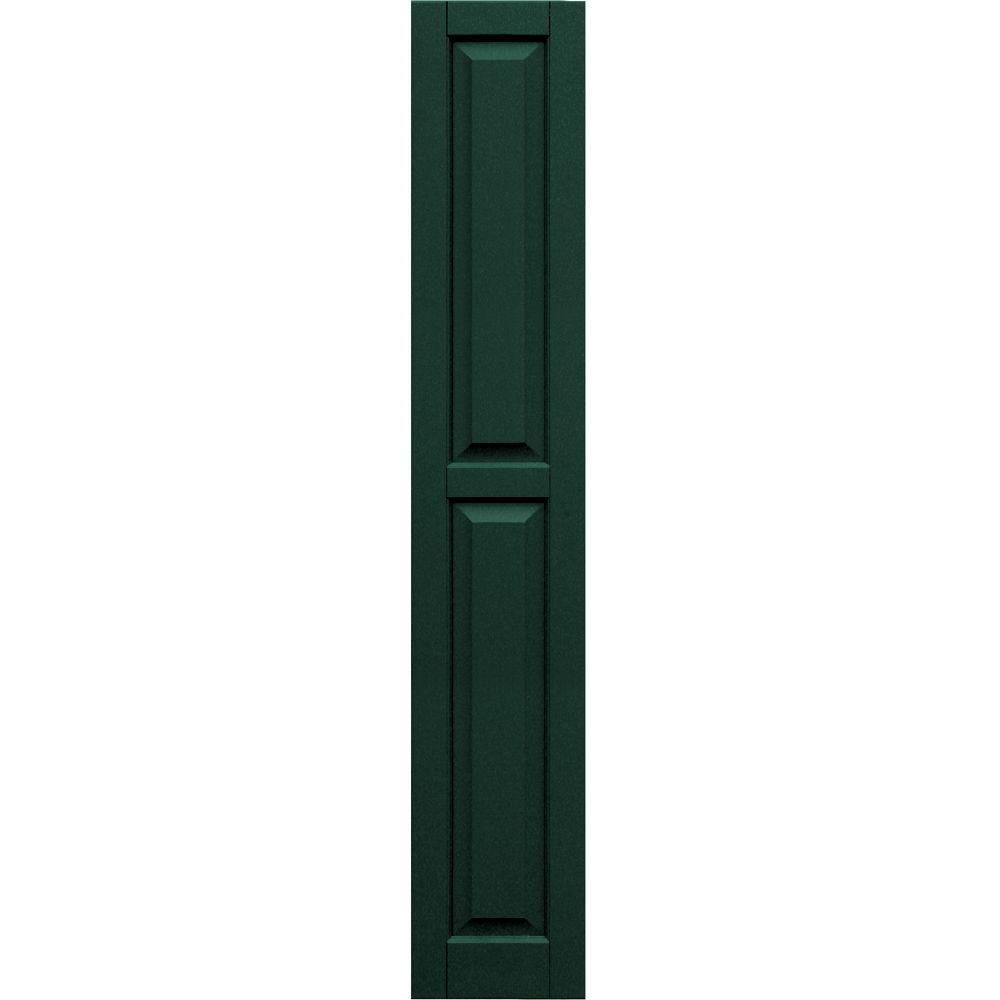 Winworks Wood Composite 12 in. x 70 in. Raised Panel Shutters Pair #638 Evergreen