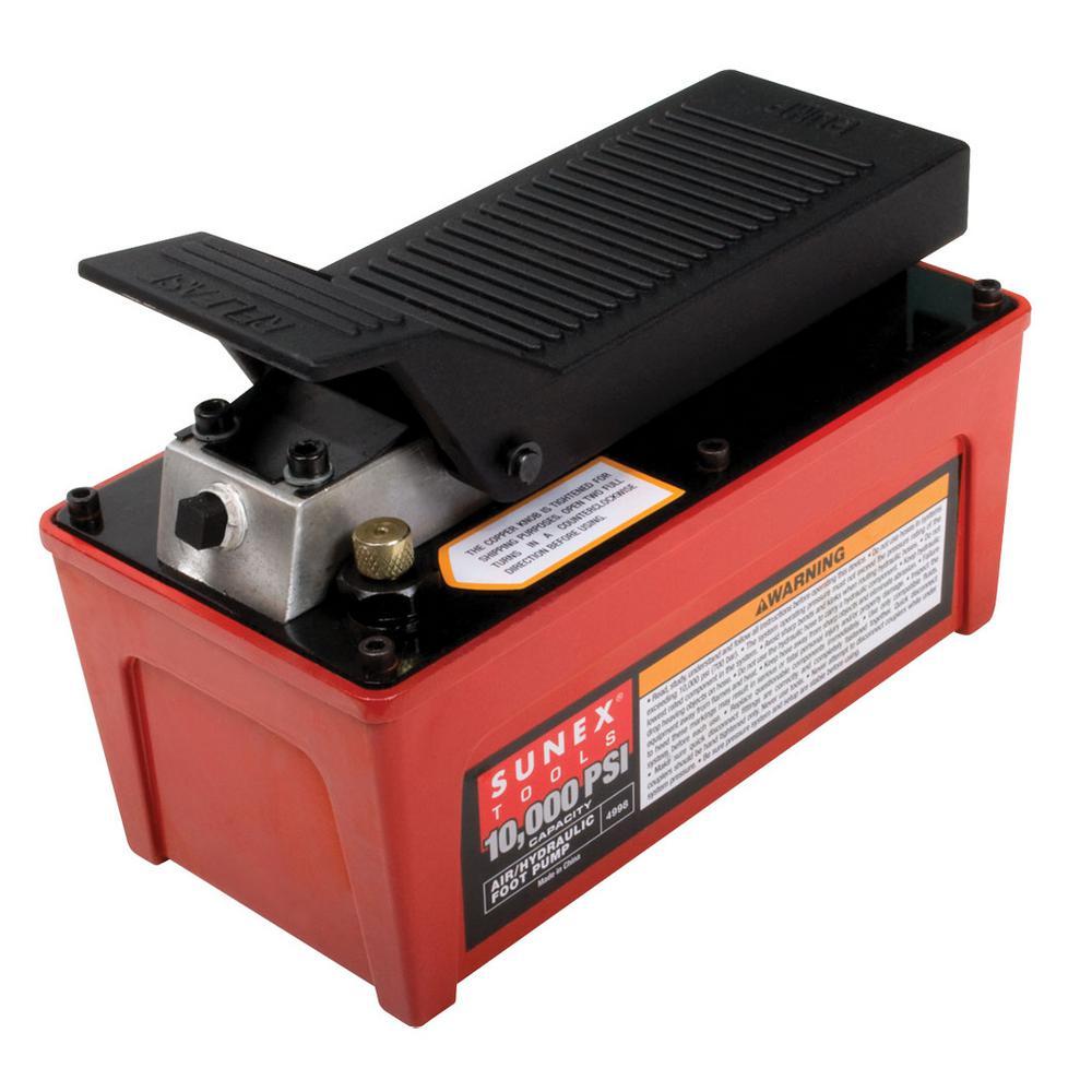 SUNEX 10000 PSI Capacity Air/Hydraulic Foot Pump