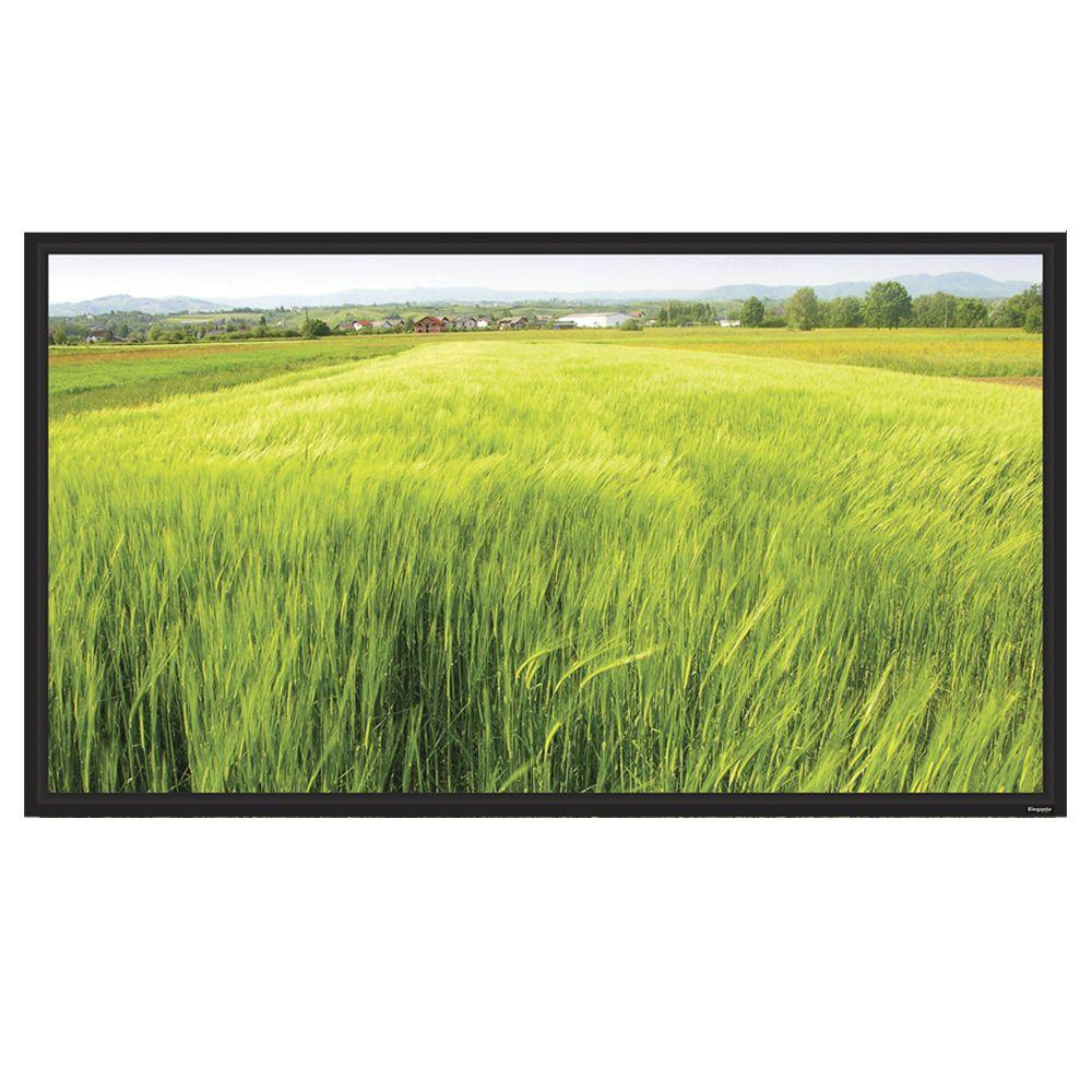 Vutec Elegante 123 in. D Fixed Frame 16:9 Screen - White and Black-DISCONTINUED
