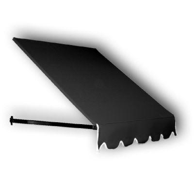 AWNTECH 5 ft. Dallas Retro Awning for Low Eaves (18 in. H x 36 in. D) in Black