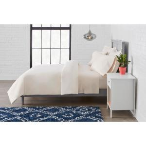 Vintage Washed Cotton Percale 2-Piece Twin Duvet Cover Set in Petal