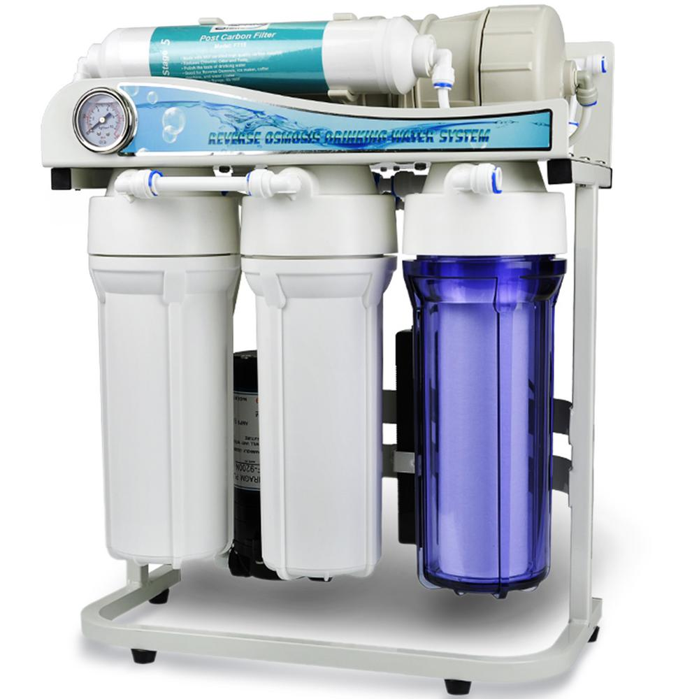 Dual Flow 500 GPD Commercial Grade Tankless Under Sink Reverse Osmosis Water  Filtration System W