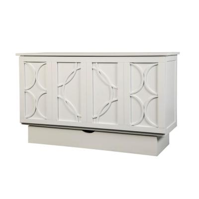 Brussels White Queen Size Cabinet Bed