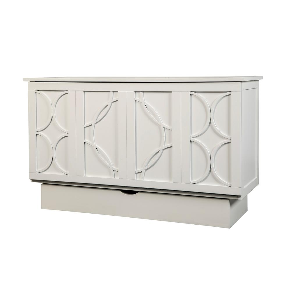 Creden Zzz Brussels White Queen Size Cabinet Bed 543 10