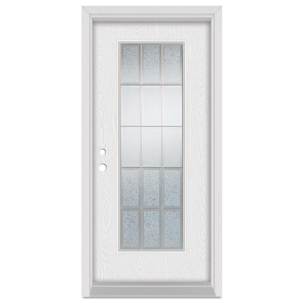 Stanley Doors 37375 In X 83 In Geometric Right Hand Brass