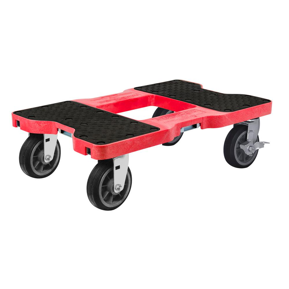 SNAP-LOC 1,500 lbs. Capacity All-Terrain Professional E-Track Dolly in Red