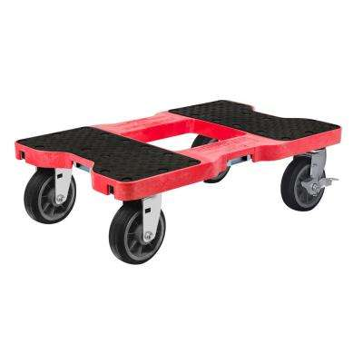 1,500 lbs. Capacity All-Terrain Professional E-Track Dolly in Red