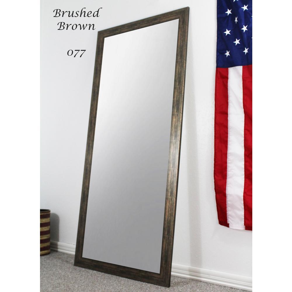 Large Dark Brown Composite Modern Mirror (59.5 in. H X 20.5 in. W)