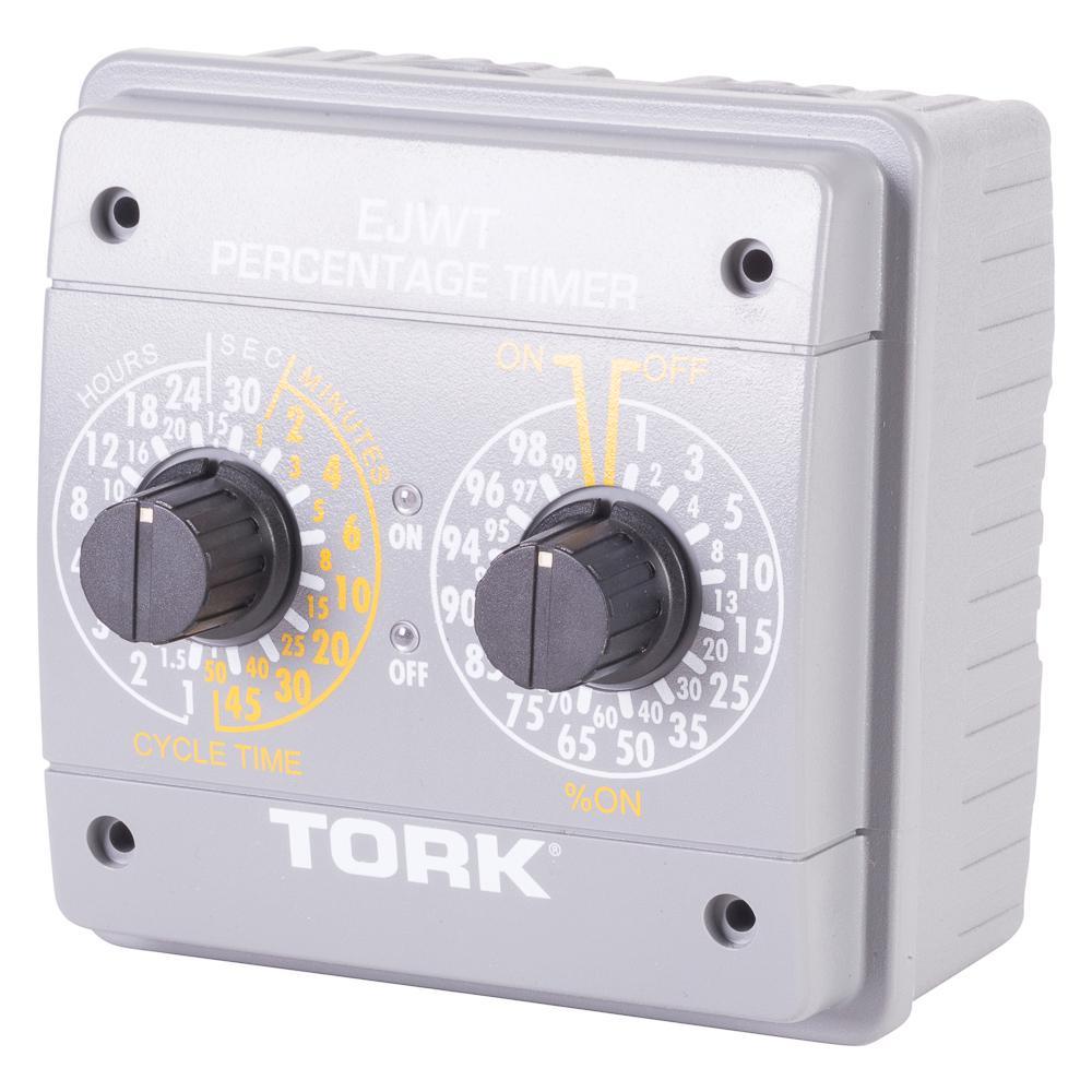 120-240VAC 24-Hour Indoor SPDT Percentage Timer, Gray