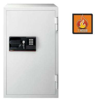 4.6 cu. ft. Steel Commercial Fire-Safe with Electronic Lock and Key in Gray