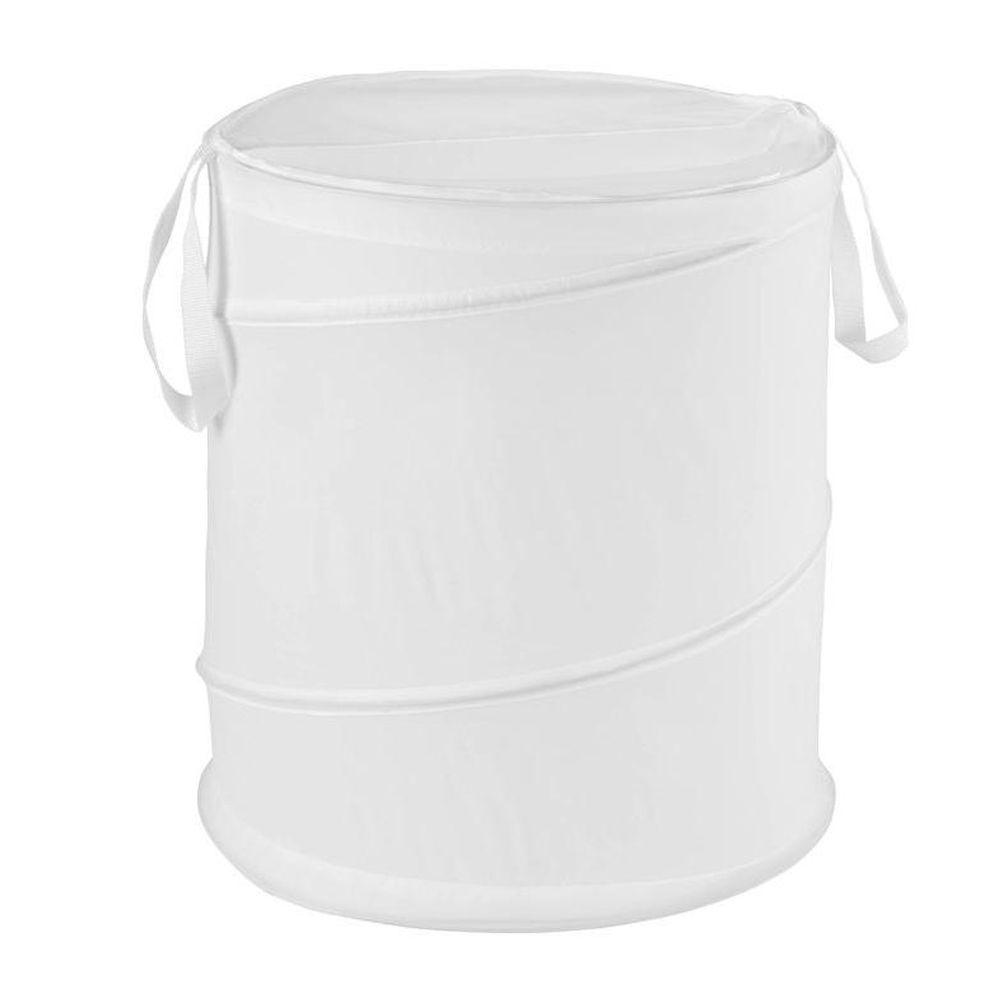 Honey-Can-Do Medium White Nylon Pop Open Hamper