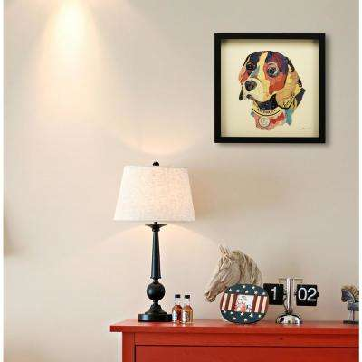 "17 in. x 17 in. ""Beagle"" Dimensional Collage Framed Graphic Art Under Glass Wall Art"