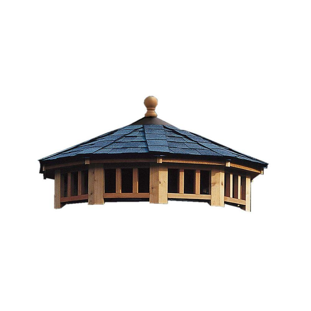 Handy Home Products San Marino 10 ft. 2-Tier Gazebo Roof