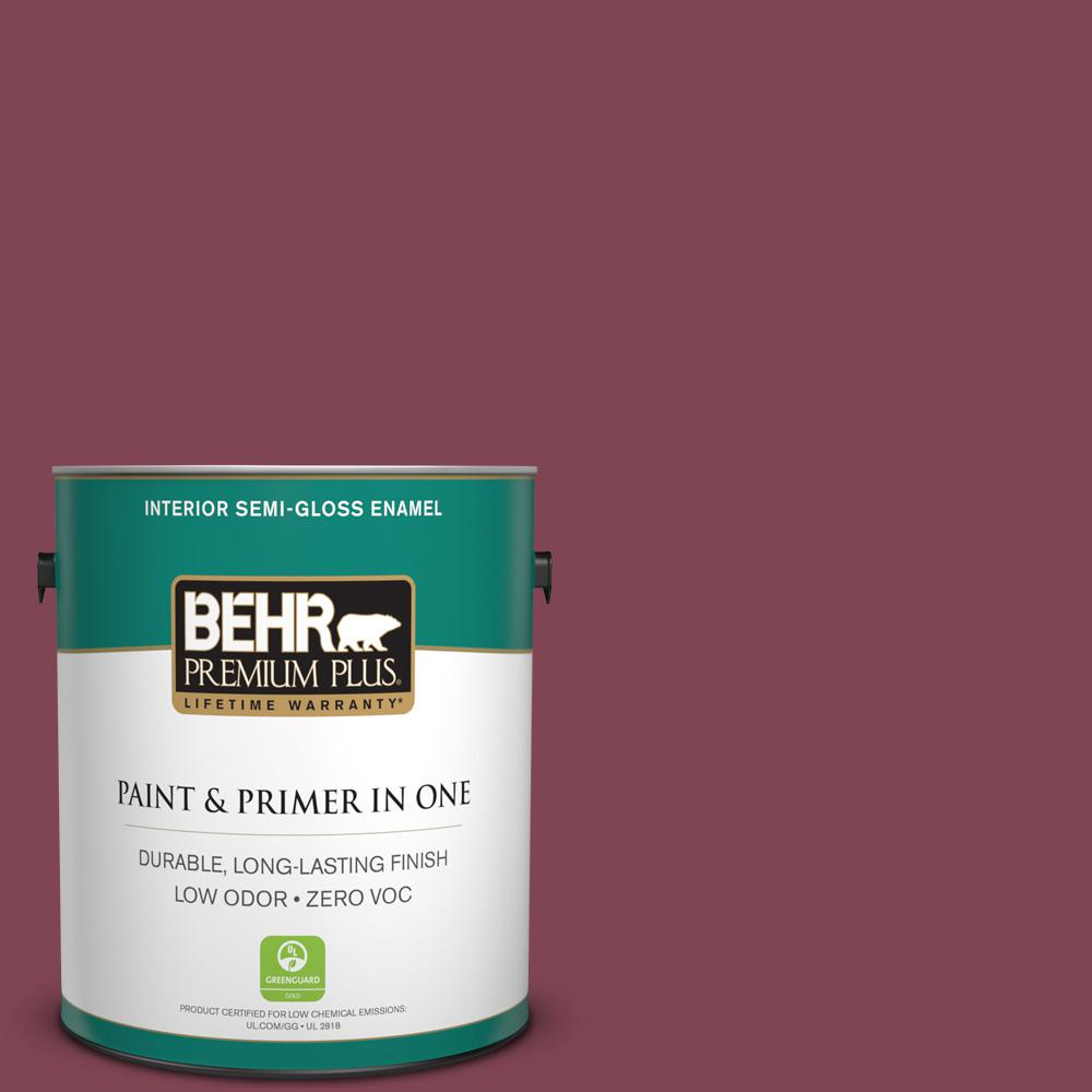 1-gal. #HDC-SP14-11 Rouge Charm Zero VOC Semi-Gloss Enamel Interior Paint