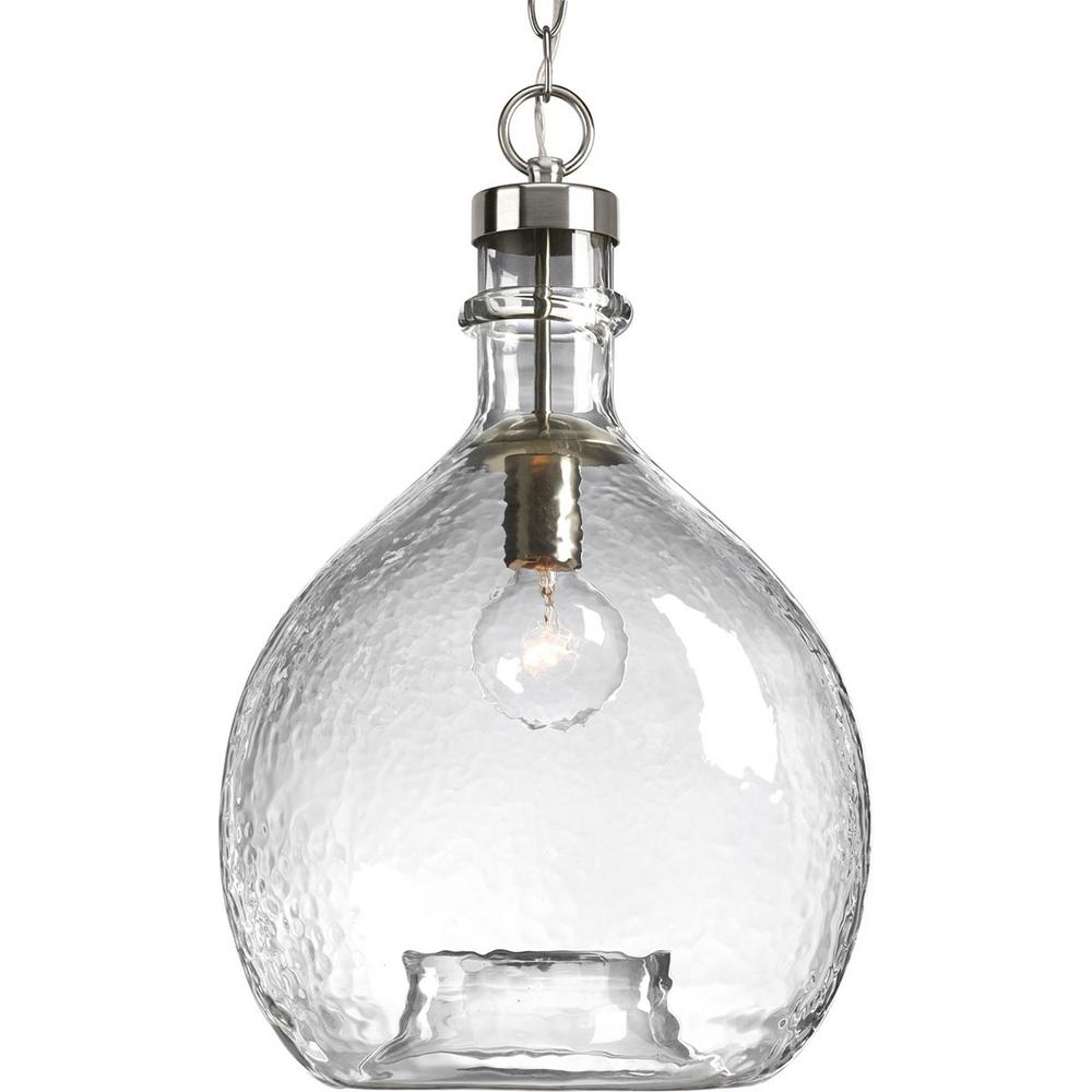 Progress Lighting Zin Collection 1-Light Brushed Nickel Pendant
