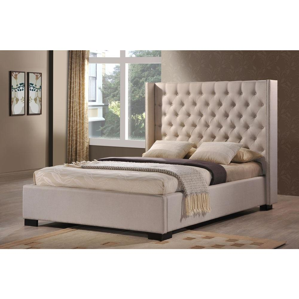 LuXeo Newport Palazzo Mist King Upholstered Bed-LUX-K6368-PLM - The ...