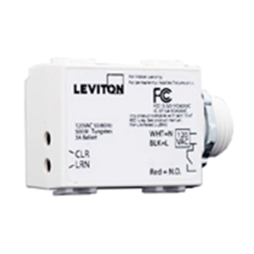 Leviton LevNet RF Enabled by EnOcean 277 Volt AC 3-Wire 1200 Relay Receiver with Threaded Mount - White-DISCONTINUED
