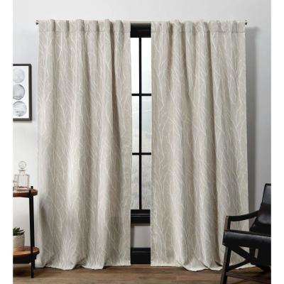 Forest Hill HT Linen Blackout Hidden Tab Top Curtain Panel - 52 in. W x 84 in. L (2-Panel)