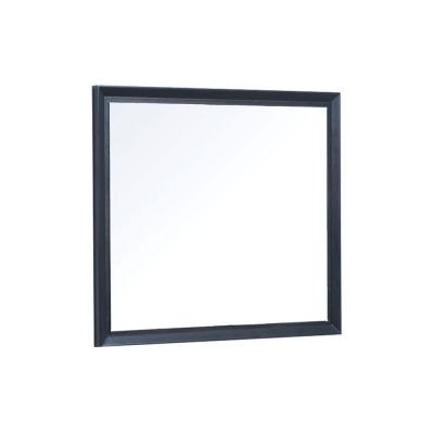 Cube 36 in. W x 30 in. H Wall Mirror in Chocolate Birch
