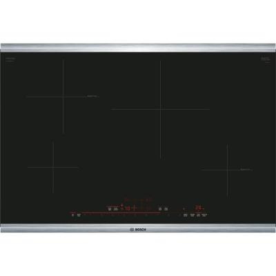 800 Series 30 in. Induction Cooktop in Black with Stainless Steel Trim, 4 Elements