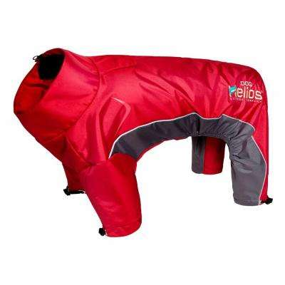 Small Cola Red Blizzard Full-Bodied Adjustable and 3M Reflective Dog Jacket