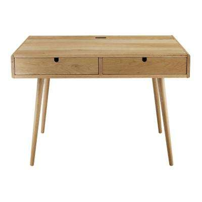 Freedom USB Port Solid American Oak Desk
