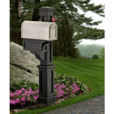 Rockport Single Mailbox Post, Black