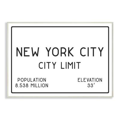 """12.5 in. x 18.5 in. """"NYC City Limit"""" by Daphne Polselli Printed Wood Wall Art"""