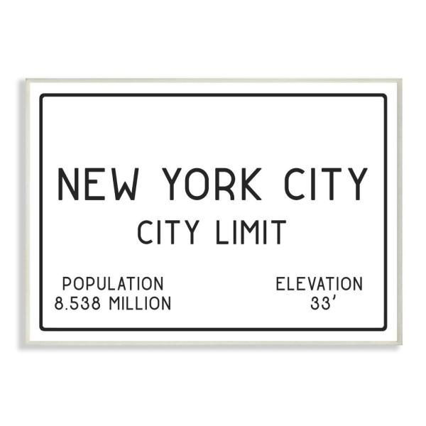 Stupell Industries 12 5 In X 18 5 In Nyc City Limit By Daphne Polselli Printed Wood Wall Art Cw 1357 Wd 13x19 The Home Depot