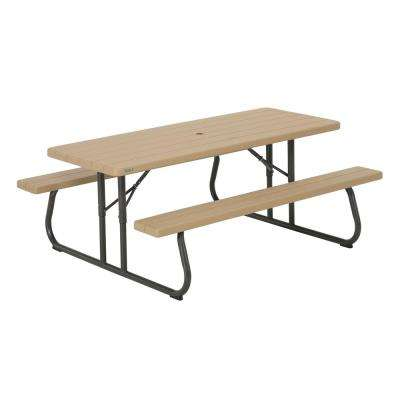 Heather Beige Folding Picnic Table