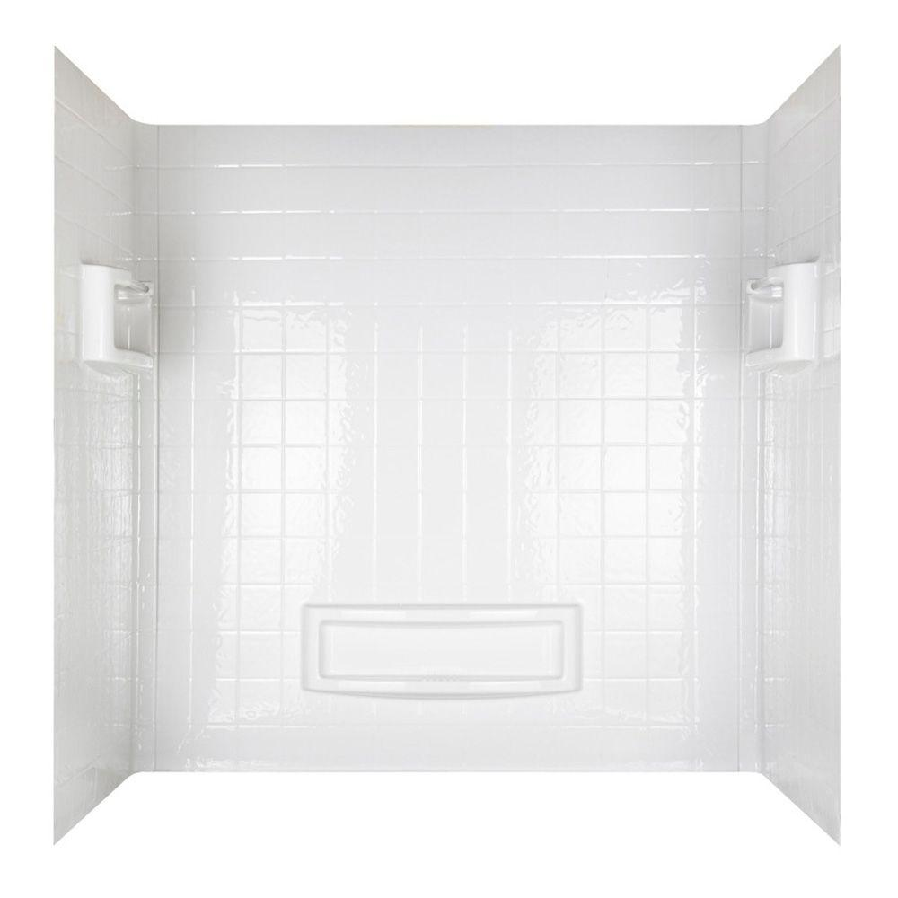 null EverStrong Bathtub Wall Set in White