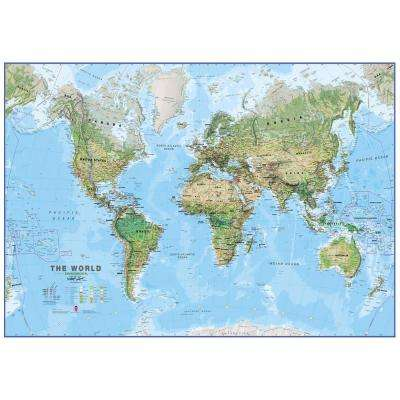 World Physical Environment 1:20 Wall Map