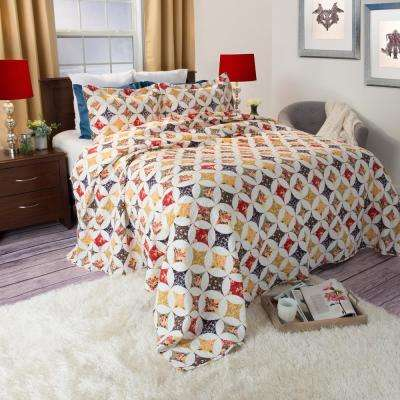 Cassandra Yellow Polyester Twin Quilt