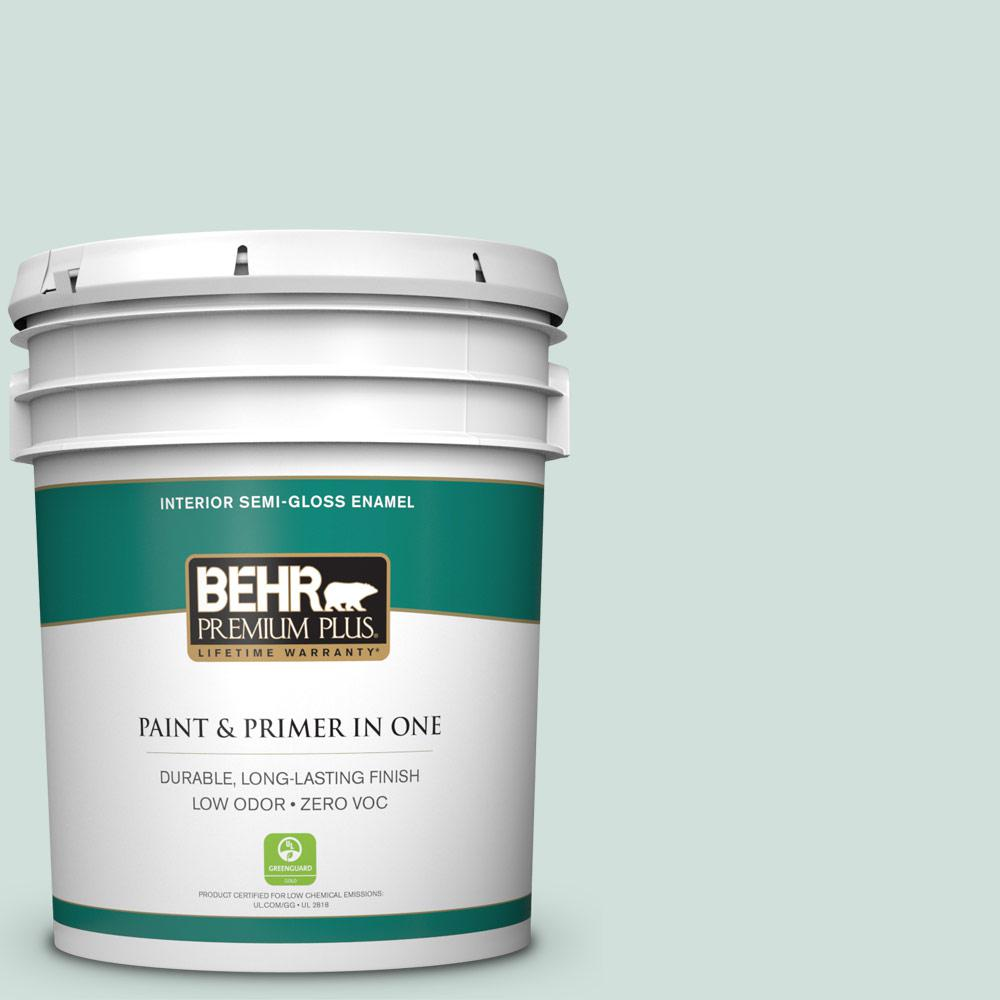5-gal. #S430-1 Melting Moment Semi-Gloss Enamel Interior Paint