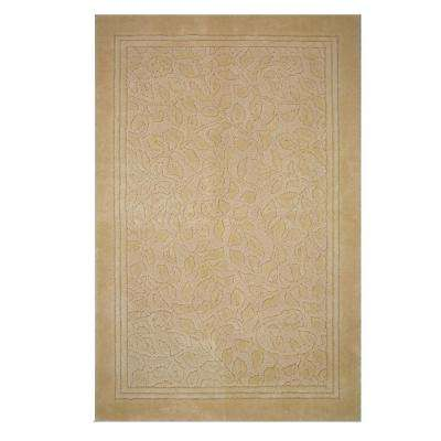 Wellington 30 in. x 50 in. Nylon Bath Rug in Deep Sand