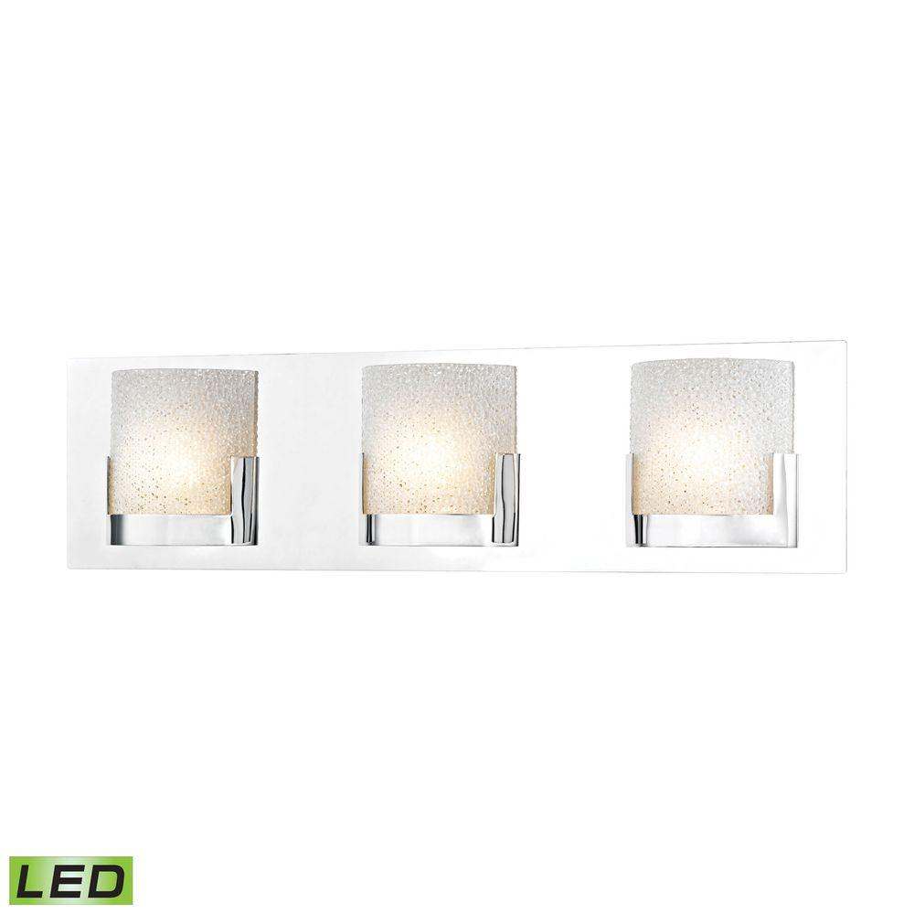 Titan Lighting Ophelia 3-Light Chrome and Clear Glass LED...