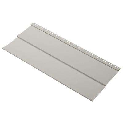 Evolutions Double 5 in. x 24 in. Vinyl Siding Sample in Pewter