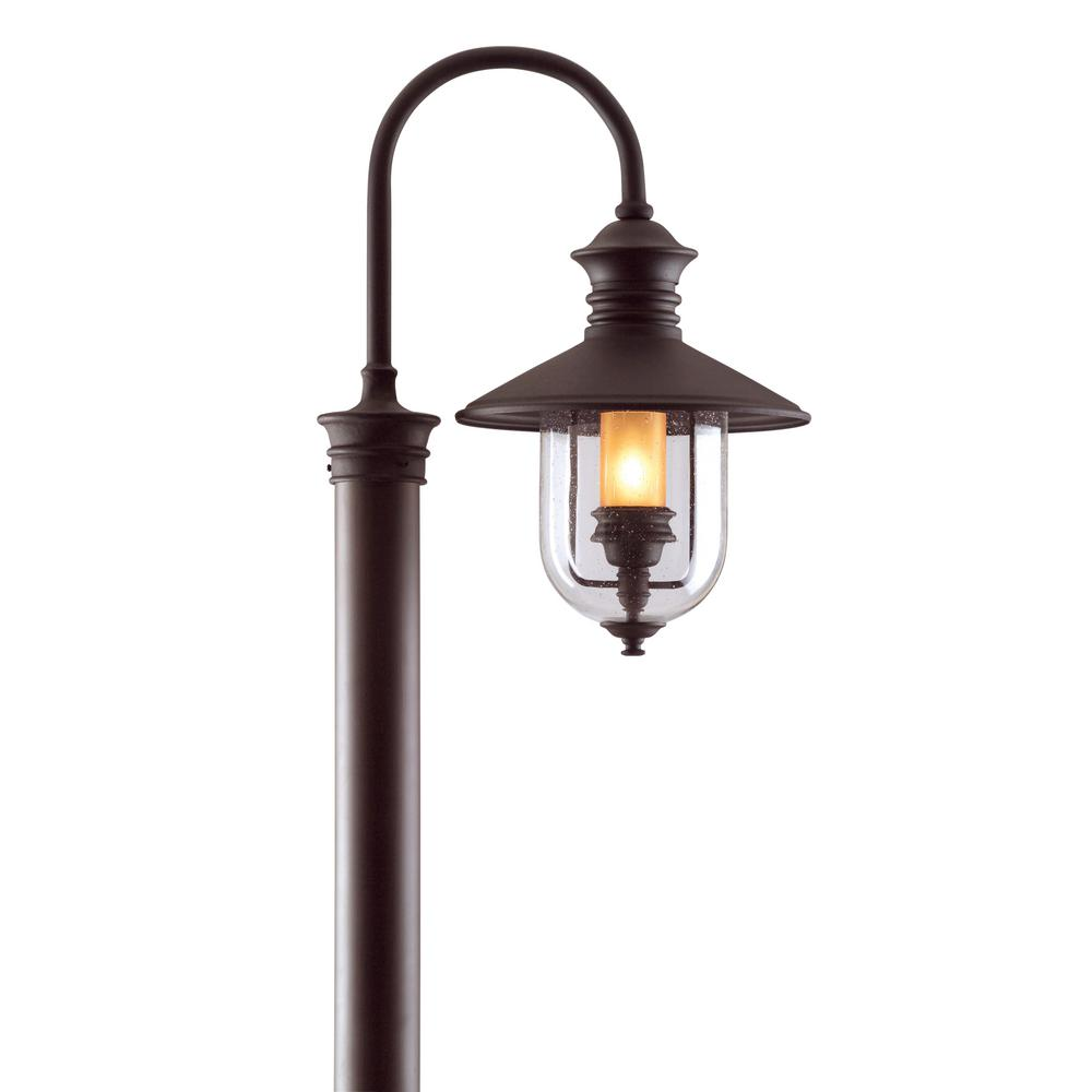 Troy Lighting Old Town Outdoor Natural Bronze Post Light