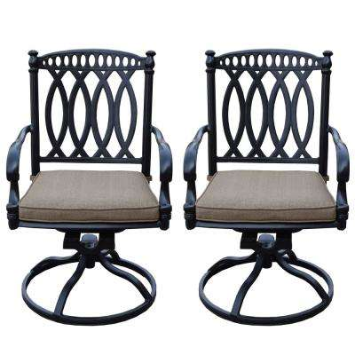 Morocco Aluminum Outdoor Rocking Chair with Sunbrella Beige Cushions (2-Pack)